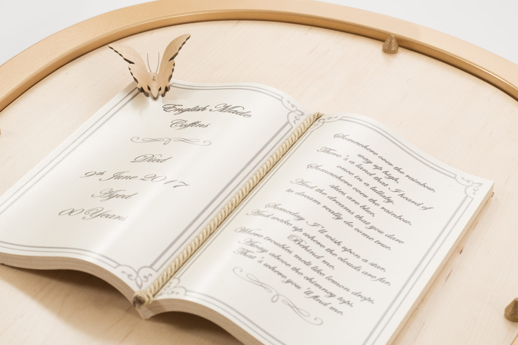 Book and butterfly ornament