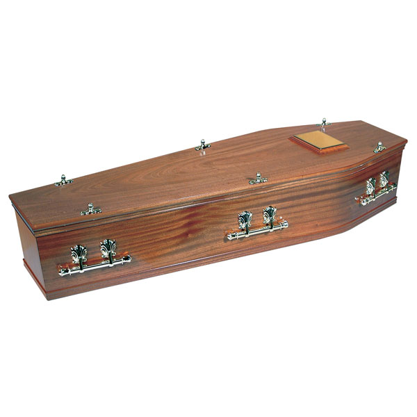 Solid Redwood Coffin
