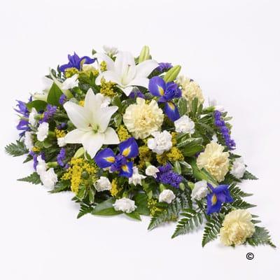 Lillies, purple and white flowers arrangement