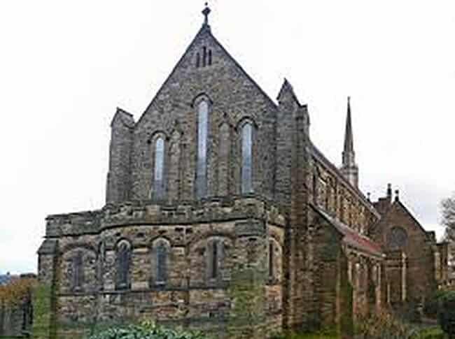 Outside a church