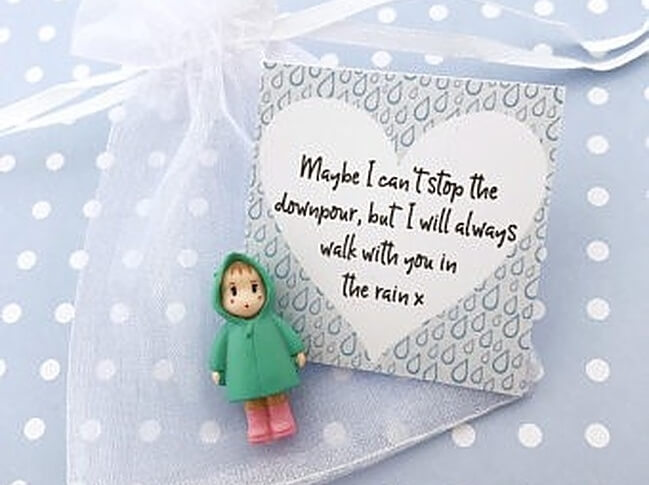 Doll with a note