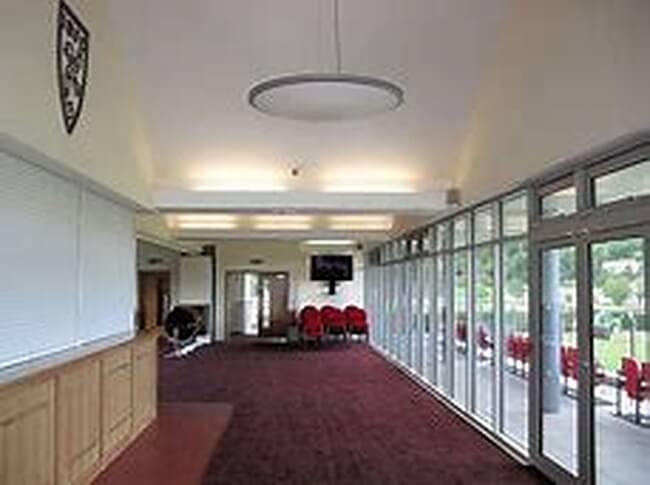 Inside Ilkley rugby club