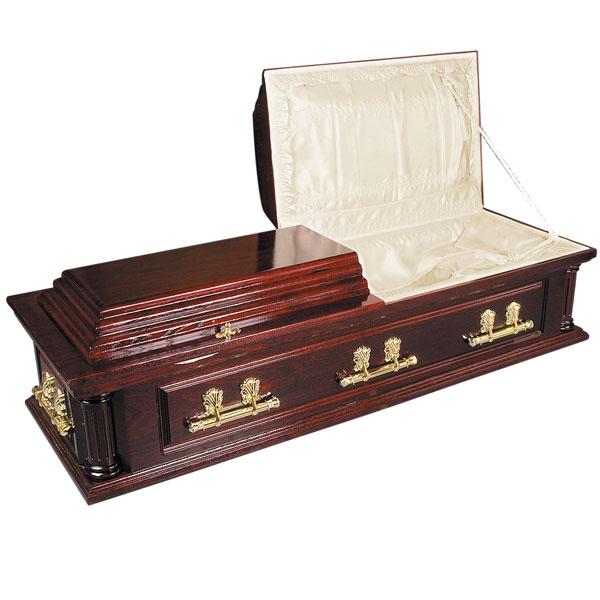 Solid Mahogany Coffin