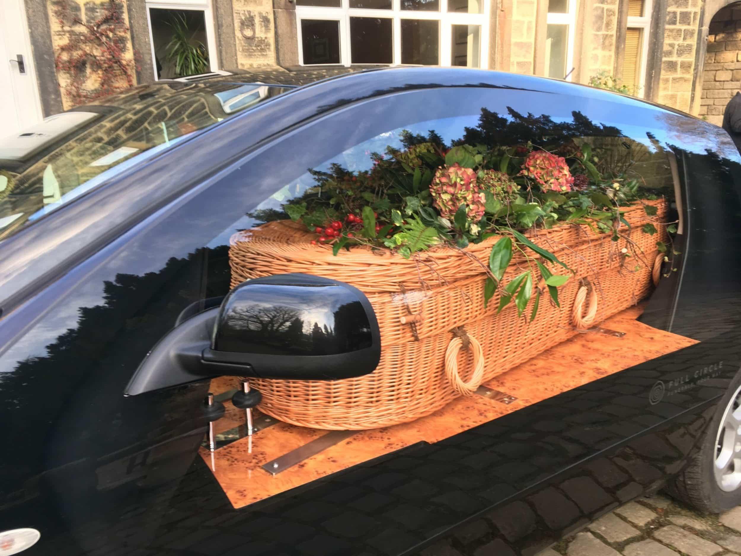 Eco hearse close up