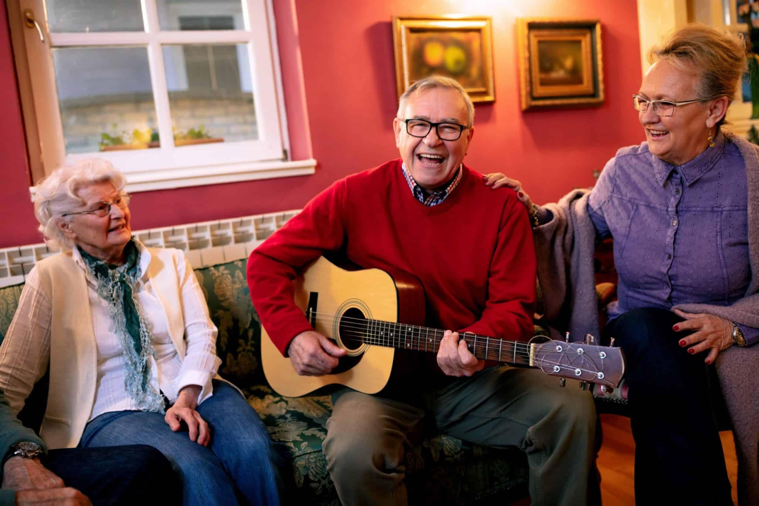 3 People playing music