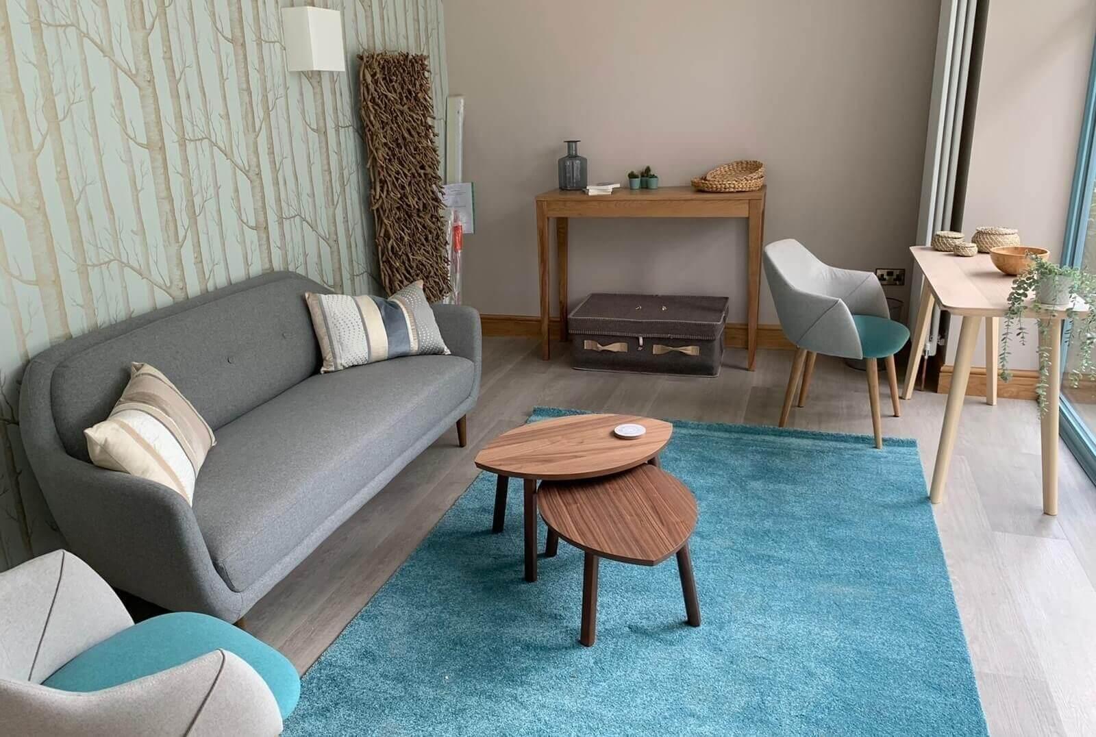 Living room inside funeral directors