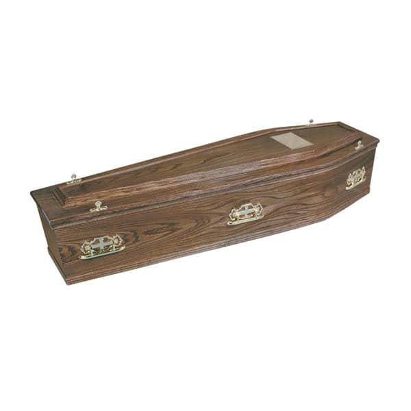Elm Veneer Coffin